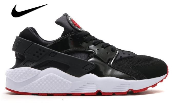 Nike Huarache Black And White Red